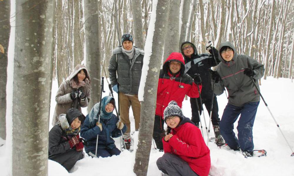 西岩木山麓雪中漫步<Ajigasawa鯵泽地区>
