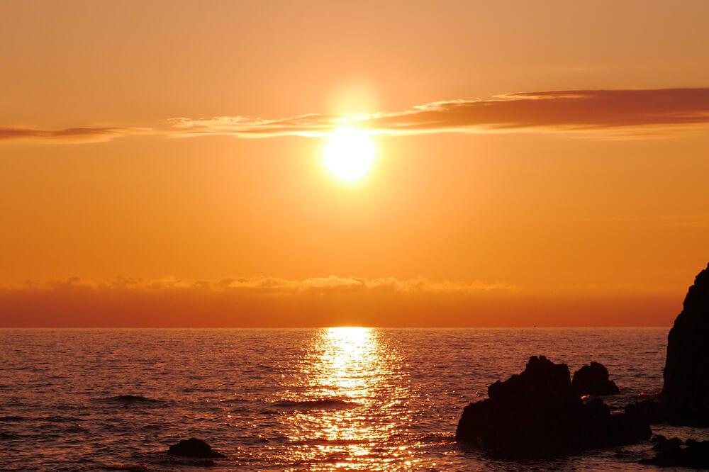 海上的夕阳